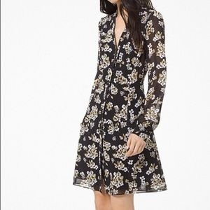 Floral Georgette Shirtdress